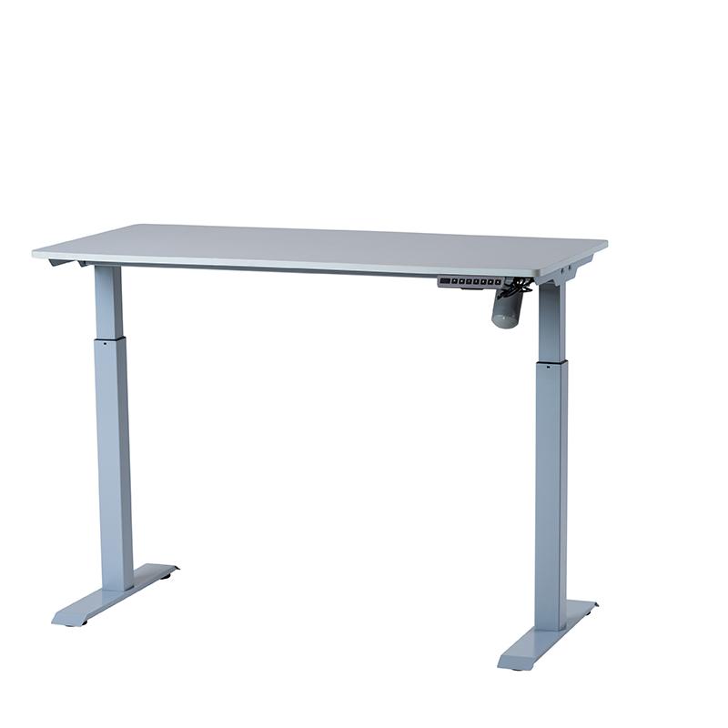 Det kompakta, kompletta, höj- och sänkbara bordet Silver/grå