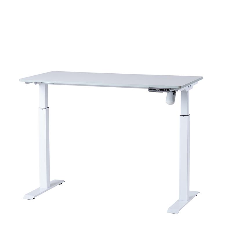 Det kompakta, kompletta, höj- och sänkbara bordet Vit