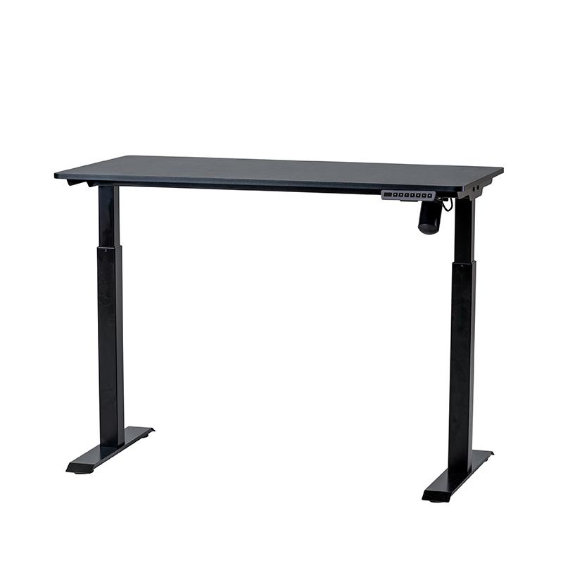 Det kompakta, kompletta, höj- och sänkbara bordet Svart