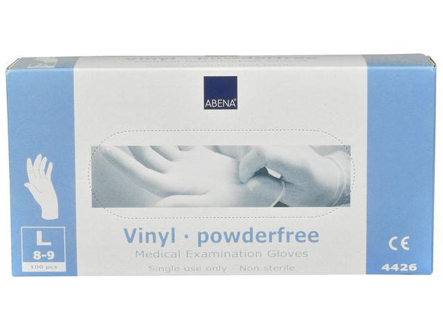 Handske vinyl puderfri L